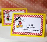 Carduri plic asezare botez Mickey Mouse BA03F