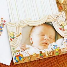 Invitatii botez cu poza bebelusului 15210
