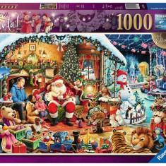 PUZZLE VIZITA LUI MOS CRACIUN, 1000 PIESE, Ravensburger
