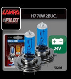 Set becuri H7 - BLU-XE, 70W, 24V (Imitatie Xenon)