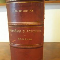 PESCARIA SI PESCUITUL IN ROMANIA DE Dr. GR. ANTIPA 1916