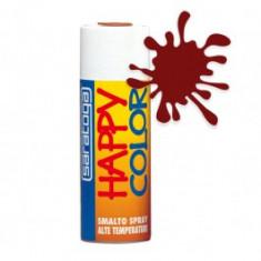 Spray vopsea termorezistenta Rosu Oxid, HappyColor pentru temperaturi ridicate, 400ml