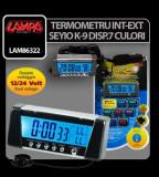 Termometru int-ext Seyio K-9 sapte culori - CRD-LAM86322