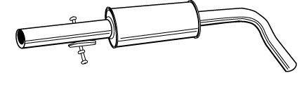 Toba esapamet intermediara Skoda Octavia (1u5) 1.6 WALKER - 21874