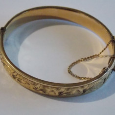 Bratara vintage din aur de 9k cu metal in interior(1/5 9k gold)-2426