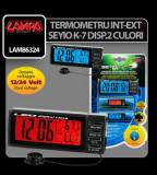 Termometru int- ext Seyio K-7 doua culori - TIES833