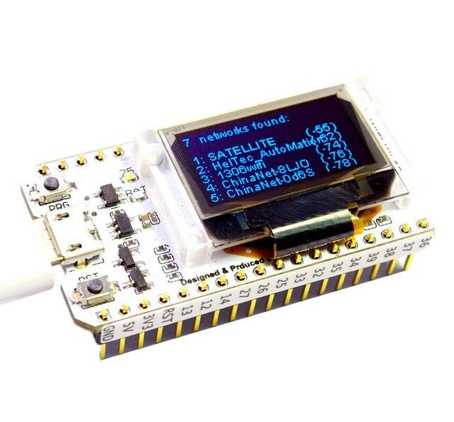 esp32 bluetooth wifi ecran display oled blue 0.96 cp2102 32m flash 3.3v 7v