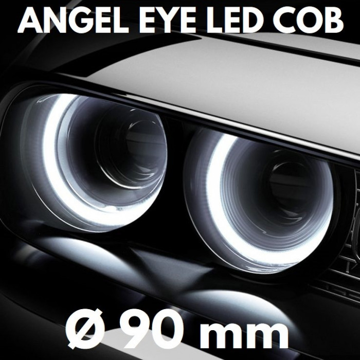 Angel Eyes LED COB - Ø 90 mm, lumina continua, alba