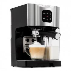 Klarstein BellaVita, mașină de cafea, 1450 W, 20 bar, spumă de lapte, 3 în 1, gri