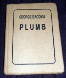 George Bacovia - Plumb (1994), antologie liliput pe hartie colorata, mini book