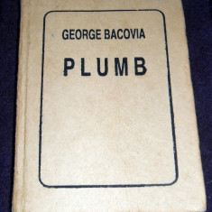 George Bacovia - Plumb (1994), antologie liliput pe hartie colorata, mini book, Alta editura