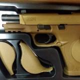 Pistol GAZ FULL AUTO Smith&Wesson M&P9 TAN-licenta CYBERGUN-0,9J, Cyber Gun