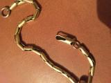 Bratara Sauro Brev. autentica! Aur 18 k de 19 gr.
