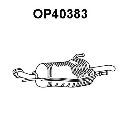 Toba esapament finala Opel Astra F 1.6 i 16V VENEPORTE - OP40383