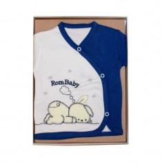Set cadou bebe 5 piese iepuras bleumarin RBSN03