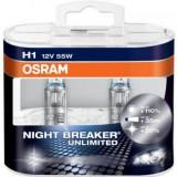 Set 2 becuri H1 Osram Night Breaker Unlimted