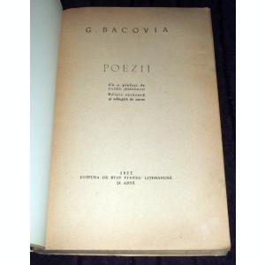 George Bacovia - Poezii (1957), antologie versuri + inedite, primul volum postum
