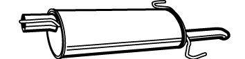 Toba esapament finala Opel Astra F (56_, 57_) 1.6 i Si WALKER - 19969