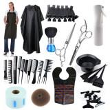 Cumpara ieftin Set kit trusa frizerie coafor coafat foarfeca tuns filat sort pulverizator clips