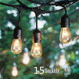 Instalatie Luminoasa cu 15 Leduri Edison pt Terasa, Foisor, Pensiune - Exterior