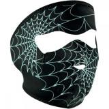 ZanHeadGear Masca Full Face Spider Web Glow In The Dark