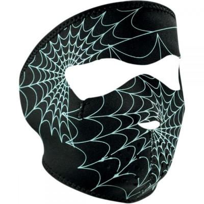 ZanHeadGear Masca Full Face Spider Web Glow In The Dark foto