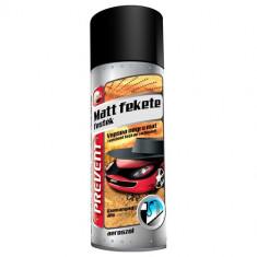 Vopsea negru mat rezistenta la combustibili aerosol Prevent 400ml