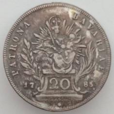 Ducatul de Bavaria - 20 Kreuzer 1785 - Legenda revers necatalogata - Argint