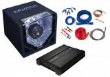 Pachet Bass Auto (Amplificator, Statie + Subwoofer Bass + Kit de Cabluri) Crunch Definition 400 W 20 cm - BLO-CPX 1000.4