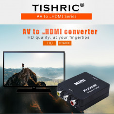 CONVERTOR AV RCA LA HDMI-Model 2019-Procesor Mai Puternic FULL HD AUDIO SI VIDEO
