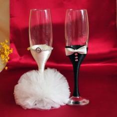 Pahare de nunta mire si mireasa P001A