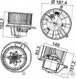 Motor ventilator habitaclu Vw Golf Vi Let (517) 1.2 TSI 1.4 1.6 TDI 2.0 GTI HELLA - 8EW 351 043-211