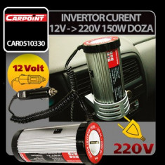 Invertor curent de la 12V la 220V 150W tip doza Carpoint - CRD-CAR0510330