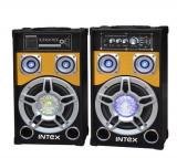 Set KARAOKE cu 2 boxe, amplificare, corector de ton si MP3, Intex DJ801K