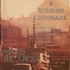SEBASTIAN MOCANU 4 SCRISORI LEGIONARE 1994 GAZETA DE VEST MISCAREA LEGIONARA 64P