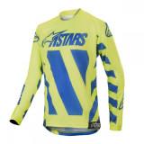 Alpinestars Tricou Racer Braap Blue/Yellow S9 Copii