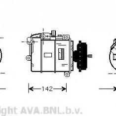 Compresor clima, aer conditionat Vw Touareg (7la, 7l6, 7l7) 2.5 R5 TDI 5.0 R50 V10 AVA QUALITY COOLING - VWK087