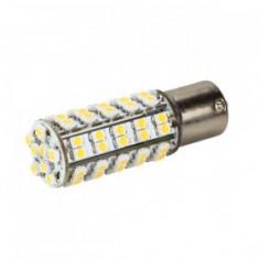 Bec LED BA15S 68 SMD 3528 12V ALB CALD 3000K COD: PT17