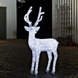 Decoratiune acrilica Craciun cu LED ren luminos 100 cm, de exterior