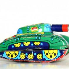 Jucărie veche cu frictiune  fabricată in Japonia - Tanc
