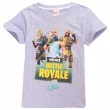 Tricou FORTNITE T-Shirt Battle Royale GRI 9-12 ani + Bratara CADOU !!, YL, YXL, Din imagine, Unisex