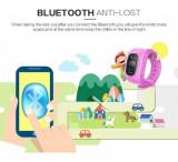 Ceas GPS copii cu pedometru q50, Aluminiu