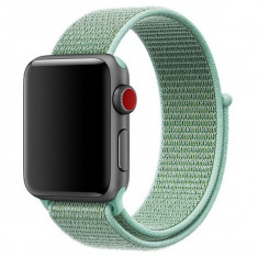 Curea pentru Apple Watch 42 mm iUni Woven Strap, Nylon Sport, Soft Green