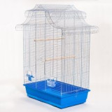 Colivie papagali AMADINA crom - 61,5 x 41,5 x 85,5 cm