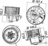 Motor ventilator habitaclu Vw Golf Vi (aj5) 1.2 TSI 1.4 1.6 MultiFuel TDI 4motion 2.0 16V HELLA - 8EW 351 043-221