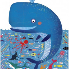 Puzzle Londji Balena albastra in ocean