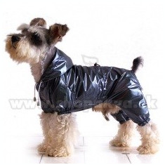 Pelerină de ploaie pentru câine , două straturi - gri spre negru, XS