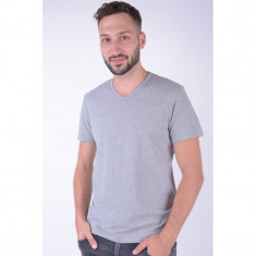 Tricou Jack&Jones Jjebasic Tee Ss Crew Neck Light Grey Melange foto