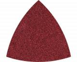 Set foi abrazive triunghi Wolfcraft 95mm, granulatii 80 si 120, 5 bucati