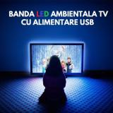 Kit TV LED BACKLIGHT ambiental cu alimentare USB (FARA telecomanda) pentru televizoare MICI - COD: 55851